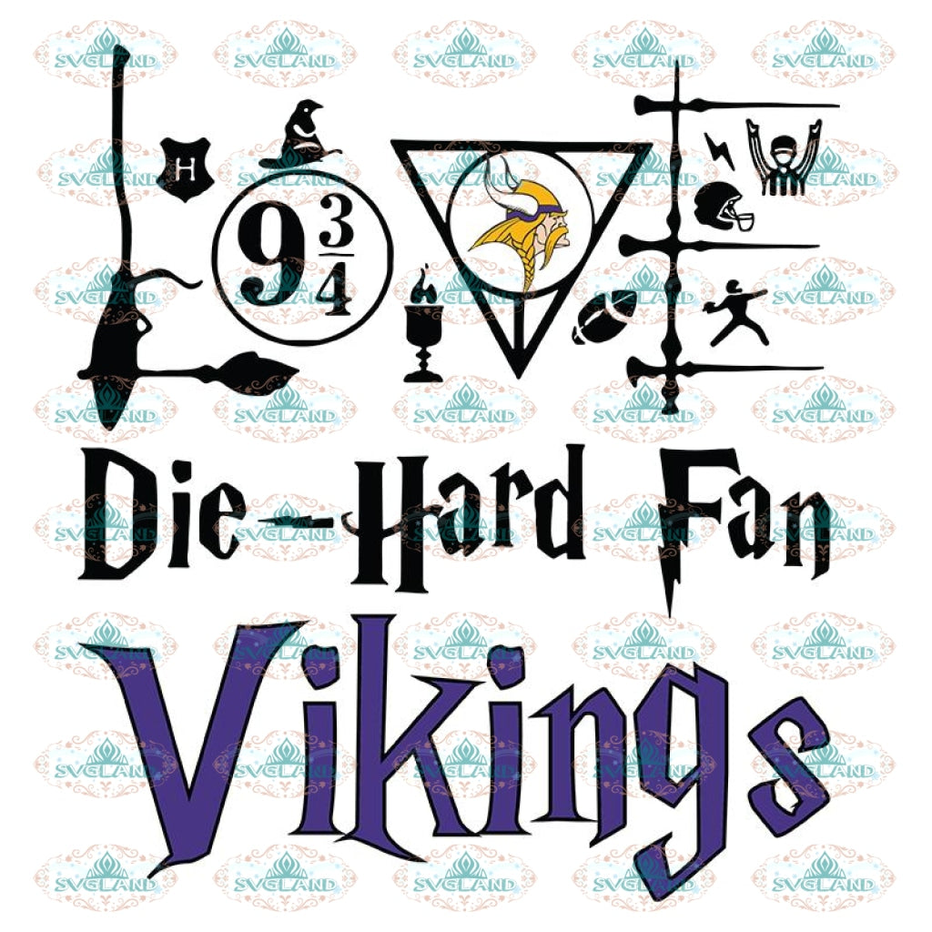 Minnesota Vikings Svg, Harry Potter Svg, Cricut File, Clipart, NFL Svg, Football Svg, Sport Svg, Love Football Svg, Png, Eps, Dxf