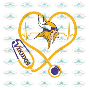 Minnesota Vikings Svg, Vikings Logo Svg, Vikings Heartbeat Svg, NFL Svg, Cricut File, Clipart, Leopard Svg, Sport Svg, Football Svg
