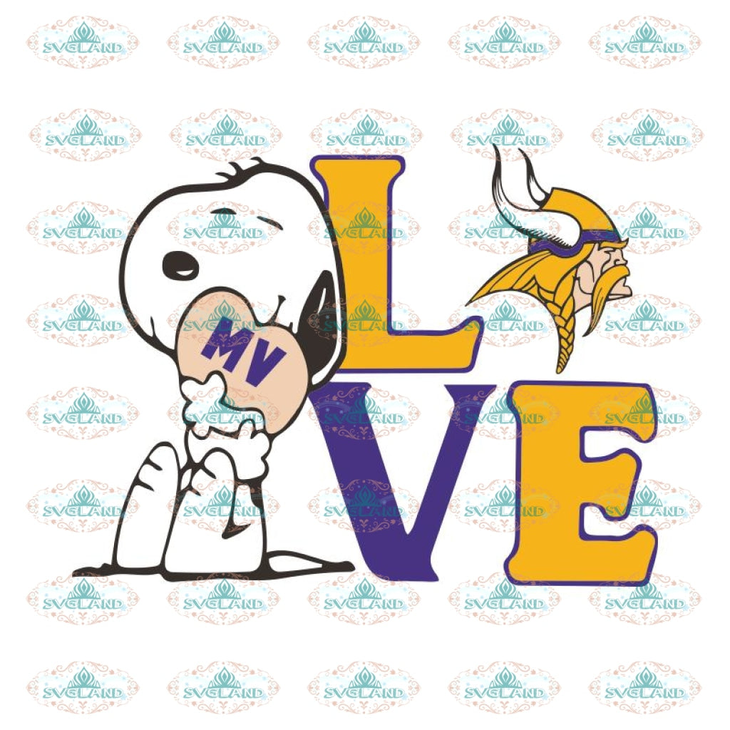 Minnesota Vikings Svg, Vikings Logo Svg, Snoopy Love Vikings Svg, NFL Svg, Cricut File, Clipart, Leopard Svg, Sport Svg, Football Svg
