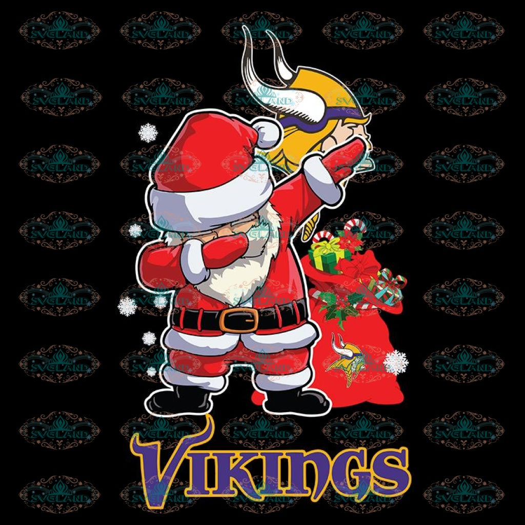 Minnesota Vikings Svg, Santa Dabbing Svg, Cricut File, Clipart, NFL Svg, Football Svg, Sport Svg, Love Football Svg, Png, Eps, Dxf