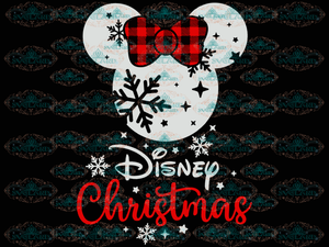 Minnie Svg Disney Design Winter Christmas Gift Outfit Digital