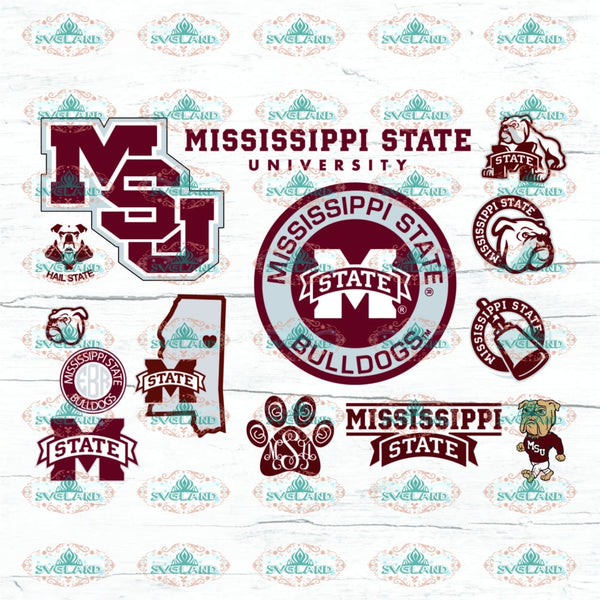 Mississippi State Bulldogs Bundle File College Football Svg Shirt American Nfl Ncaa Digital