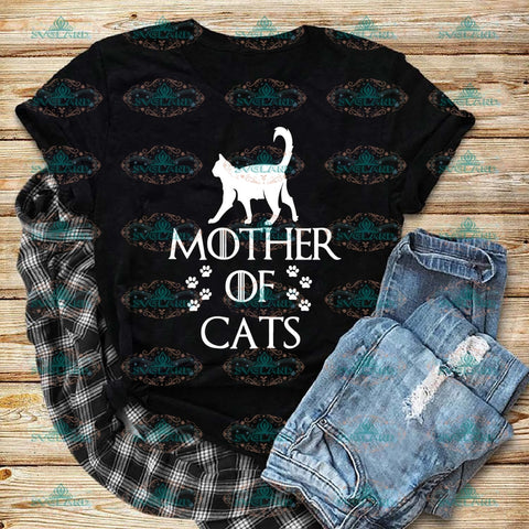 Mother Of Cats Customer Name Order Mother Cat Svg Child Gift For Digital