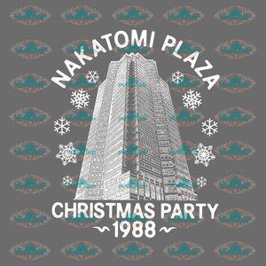 Nakatomi Plaza Christmas Party 1988 Winter Gift Outfit Ornament Png File Digital