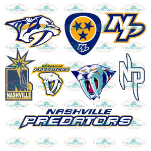 Nashville Predators, SVG Files, Nashville Predators Cutting Files, NHL, Bundle, Svg