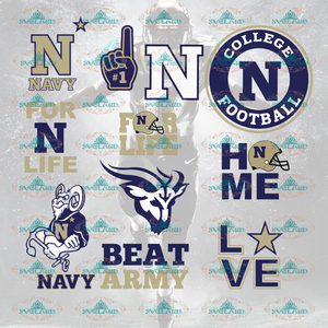 Navy Midshipmen Navy Midshipmen Football Team Fans Bundle File Nfl Ncaa Digital
