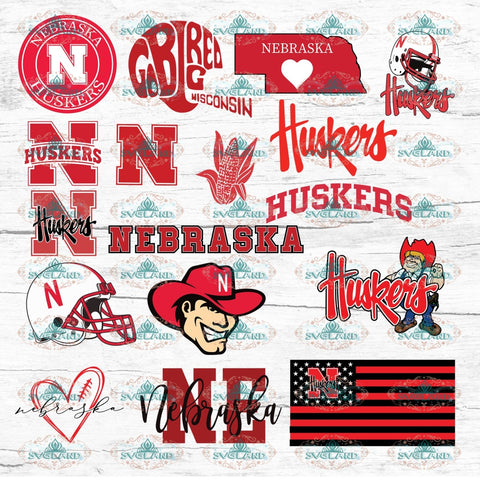 Nebraska Huskers Bundle File Football Shirt College Nfl Ncaa Digital