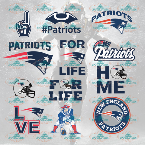 New England Patriots New Football College Bundle File Nfl Ncaa Digital