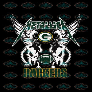NFL Green Bay Packers Metallica Heavy Metal Band Football Svg, Clipart, NFL Svg, Sport Svg, Love Football Svg, Png Eps, Dxf