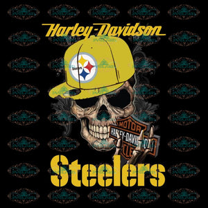Nice Motor Harley Davidson Cycles Pittsburgh Steelers Svg, Cricut File, Clipart, Football Svg, Sport Svg, Love Football Svg, Png, Eps, Dxf