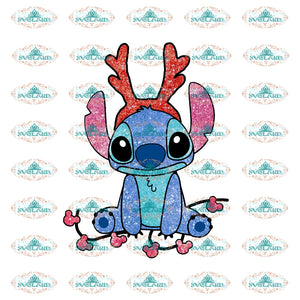 Oh Boy Stitch Christmas Lights Disney Cartoon Winter Christmas Png Digital