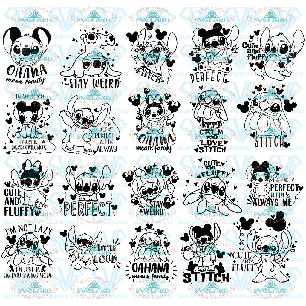 Ohana Means Family Svg Stitch Bundle Stitch Clipart Vectors Stay Weird Sayings Svg Christmas Kid