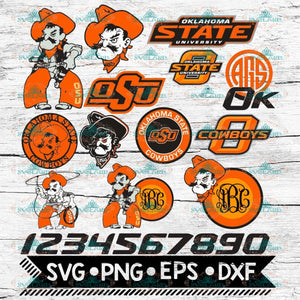 Oklahoma State cowboys Svg, NCAA, Svg, Bundle, Sport