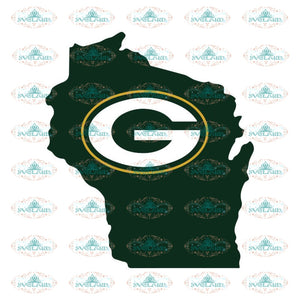 Packers Football Cute Map Svg, Green Bay Packers Svg, Packers Quotes, Cricut Silhouette, Clipart, NFL Svg, Football Svg, Sport Svg