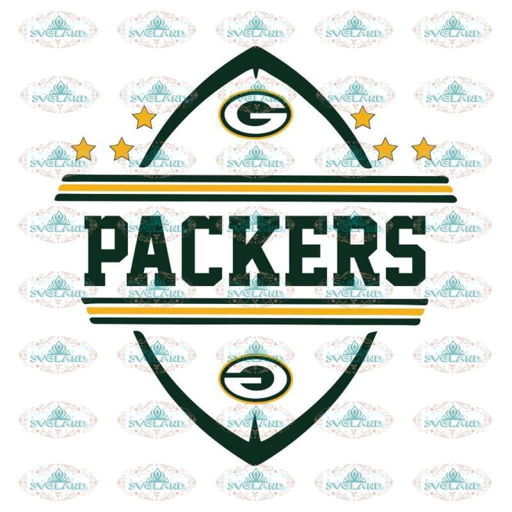 Packers Football Star Svg, Green Bay Packers Svg, Packers Quotes, Cricut Silhouette, Clipart, NFL Svg, Football Svg, Sport Svg
