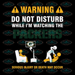 Packers Football Warning Svg, Green Bay Packers Svg, Packers Quotes, Cricut Silhouette, Clipart, NFL Svg, Football Svg, Sport Svg