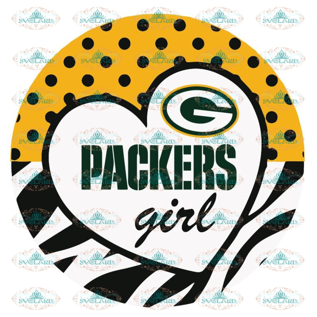 Packers Girl Svg, NFL Svg, Cricut File, Clipart, Green Bay Packers Svg, Football Svg, Sport Svg, Love Football Svg, Png, Eps, Dxf