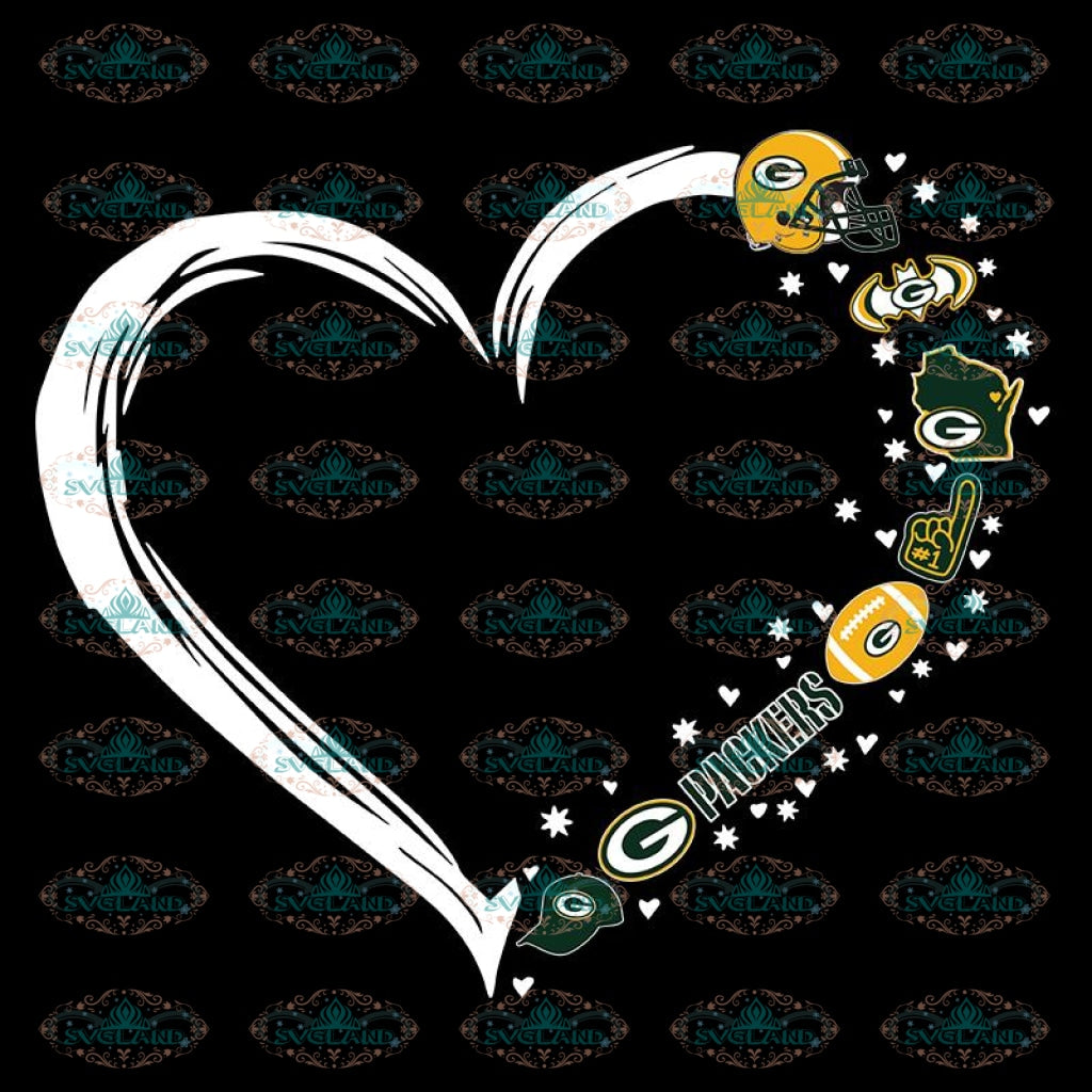 Packers Love Football Svg, Green Bay Packers Svg, Packers Quotes, Cricut Silhouette, Clipart, NFL Svg, Football Svg, Sport Svg