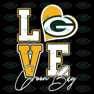 Packers Love Svg, NFL Svg, Cricut File, Clipart, Green Bay Packers Svg, Football Svg, Sport Svg, Love Football Svg, Png, Eps, Dxf 2
