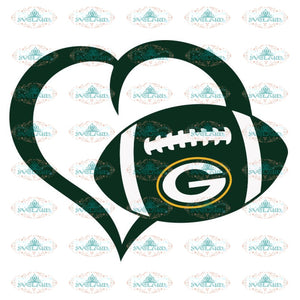 Packers Love Svg, NFL Svg, Cricut File, Clipart, Green Bay Packers Svg, Football Svg, Sport Svg, Love Football Svg, Png, Eps, Dxf