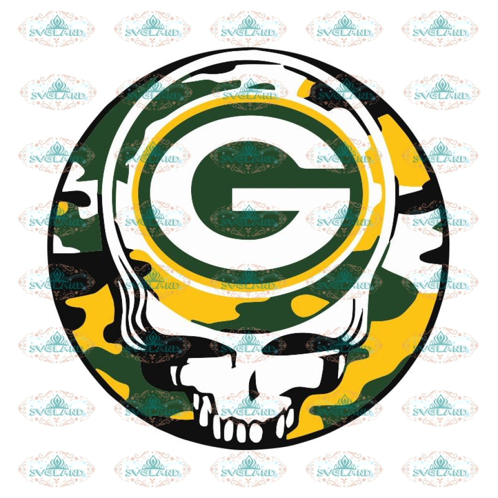 Packers Skull Svg, Green Bay Packers Svg, Packers Quotes, Cricut Silhouette, Clipart, NFL Svg, Football Svg, Sport Svg4