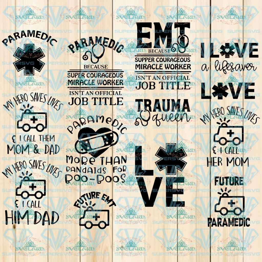 Paramedic Svg Cut Files For Crafters Quotes Svg Digital