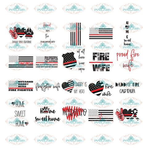 peace love firefighter, firefighter red line flag svg bundle, firefighter home signs svg,