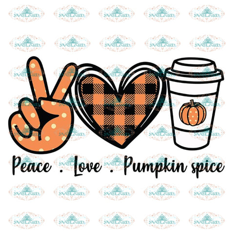Peace Love Pumpkin Spice Svg, Pumpkin Svg, Fall Svg, Fall Pumpkin Svg, Cheetah Print Pumpkin Svg, Cricut File, Clipart