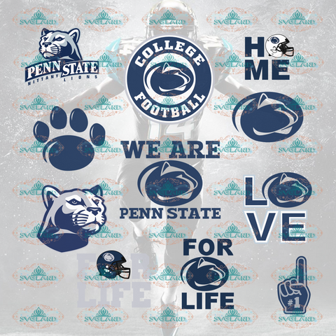 Penn State Nittany Lions Penn State Nittany Lions College Football Svg Bundle File Nfl Ncaa Digital