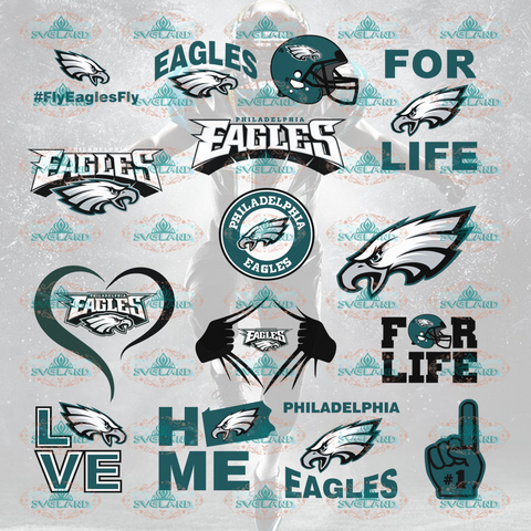 Philadelphia Eagles Football Philadelphia Svg College Bundle File Nfl Ncaa Digital