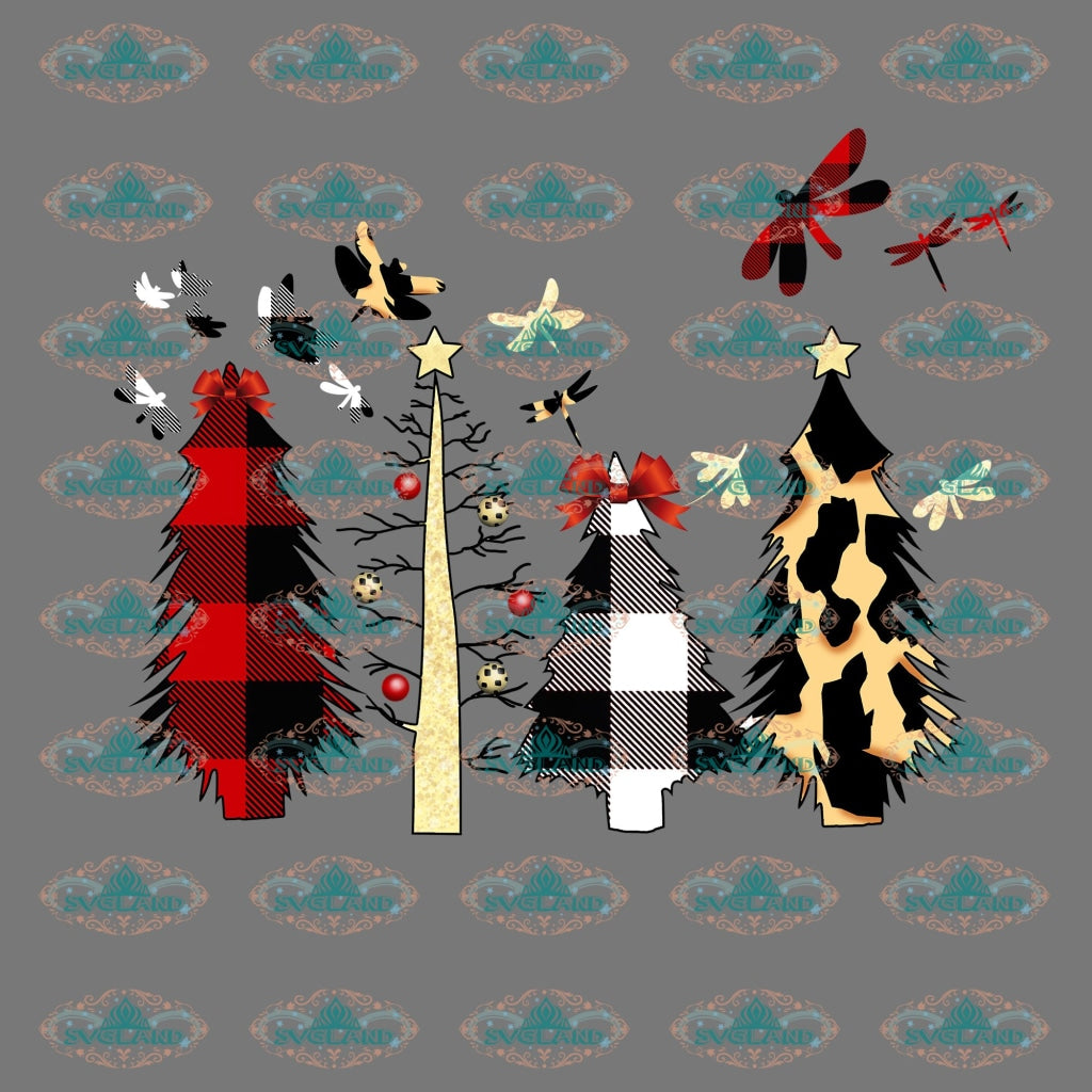 Pine Trees Christmas Christmas Gift Outfit Ornament Png Digital