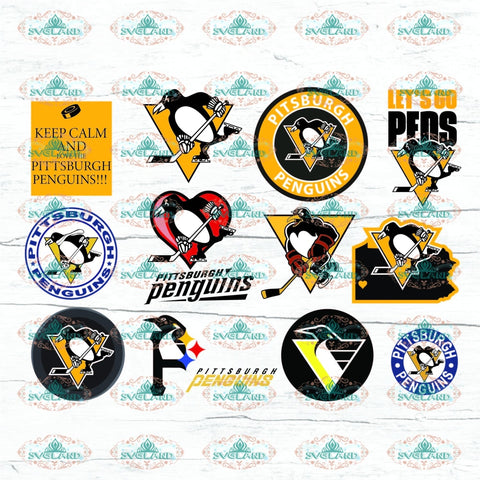Pittsburgh Penguins Bundle File Nhl Svg Png Eps Dxf Digital