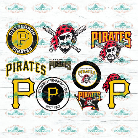 Pittsburgh Pirates Bundle File Baseball College Mlb Svg Digital
