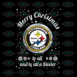 Pittsburgh Steelers Christmas Svg, Pittsburgh Steelers Svg, NFL Svg, Cricut File, Clipart, Santa Svg, Sport Svg, Football Svg, Png, Eps, Dxf