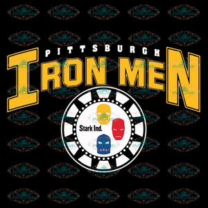 Pittsburgh Steelers Svg, Pittsburgh Iron Men Svg, Cricut File, Clipart, NFL Svg, Football Svg, Sport Svg, Love Football Svg, Png, Eps, Dxf