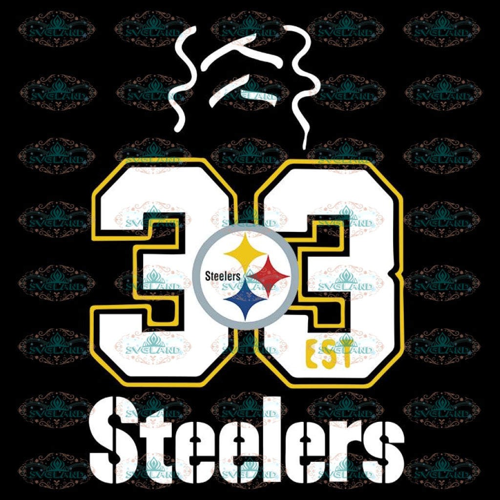 Pittsburgh Steelers Svg, Logo Steelers Svg, Cricut File, Clipart, NFL Svg, Football Svg, Sport Svg, Love Football Svg, 33Est Svg, Png, Eps, Dxf