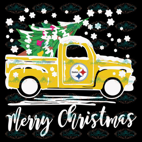 Pittsburgh Steelers Svg, Truck Christmas Svg, Cricut File, Clipart, Football Svg, Sport Svg, Christmas Svg, Merry Christmas Svg, Png, Eps, Dxf