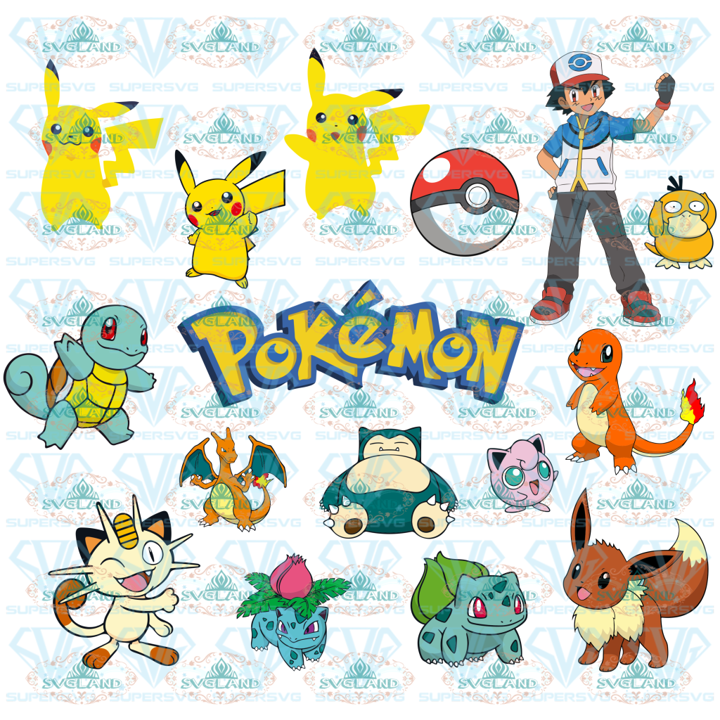Pokemon Svg Pikachu Svg Pokemon Bundle Go Bundle File Svg Digital