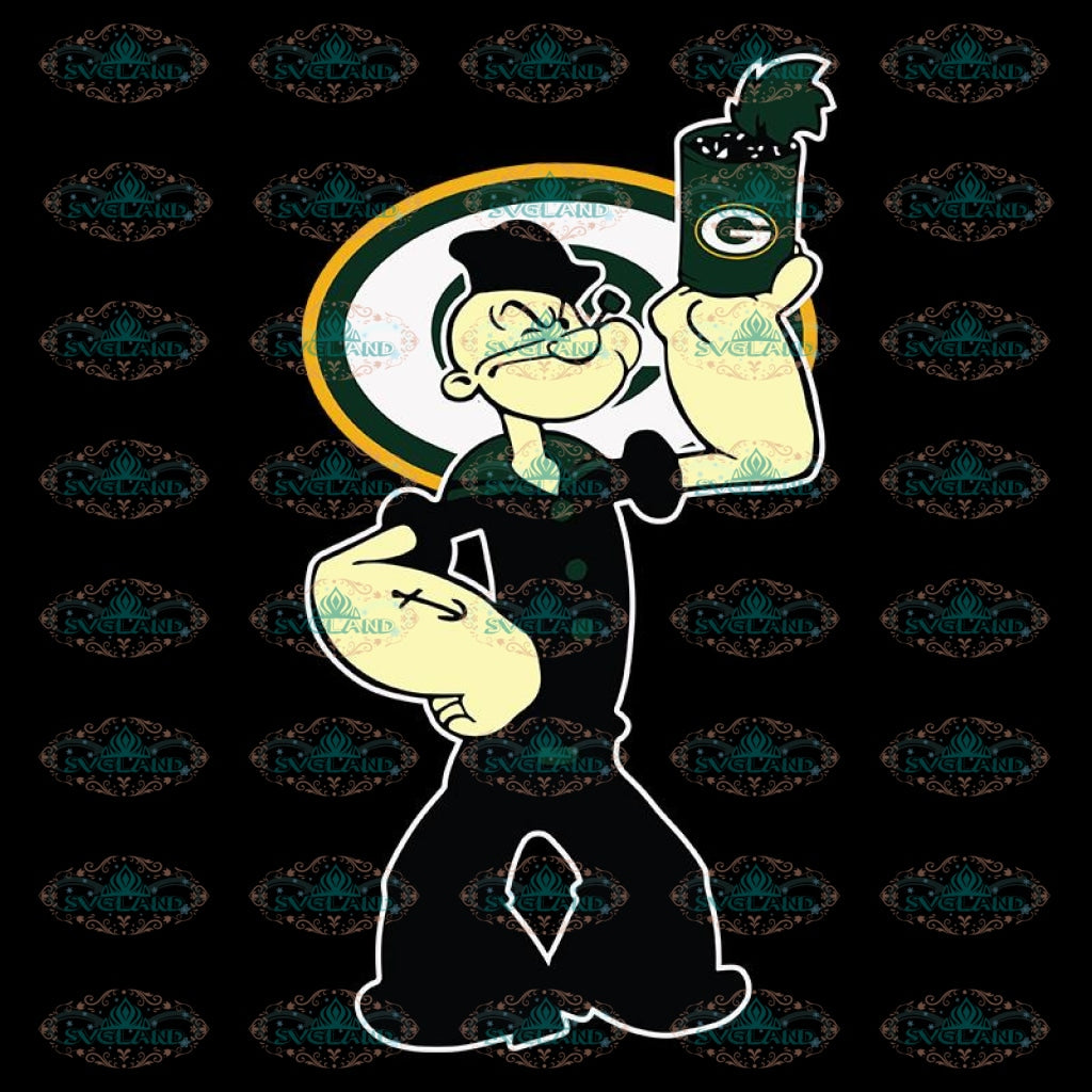 Popeye Svg, Cricut File, Popeye Packers Svg, NFL Svg, Football Svg, Cricut File, Sport Svg, Football Svg, Png, Eps, Dxf