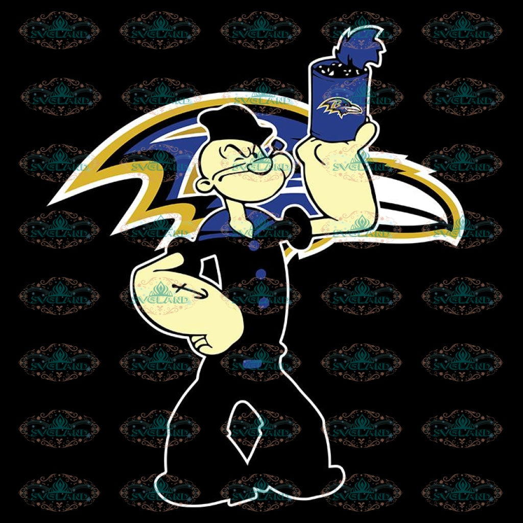 Popeye Svg, Cricut File, Popeye Ravens Svg, NFL Svg, Football Svg, Cricut File, Sport Svg, Football Svg, Png, Eps, Dxf