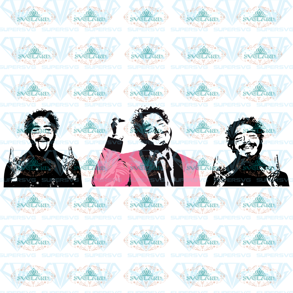 Post Malone Customized Graphic For Shirts Onesies Mugs Glasses Sweatshirts Black And White Svg
