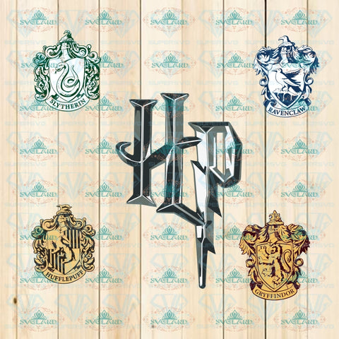 Potter Emblems Svg Faculties Of Hogwarts Png Harry Universe Gryffindor Hufflepuff Ravenclaw
