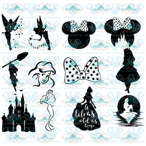 Princess Disney Bundle Svg Family Vacation Disneyland File Digital