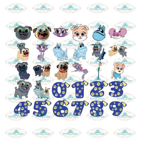 Puppy Dog Pals Svg, Bundle, Paw Dog, Birthday Party, Cuties Animal, Cartoon Svg, Cricut File
