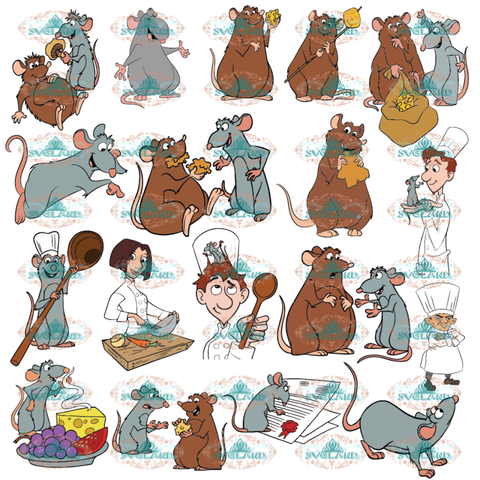 Ratatouille Svg Clipart Disney Remy Rat Cooking Cook Cuisine Kitchen Digital
