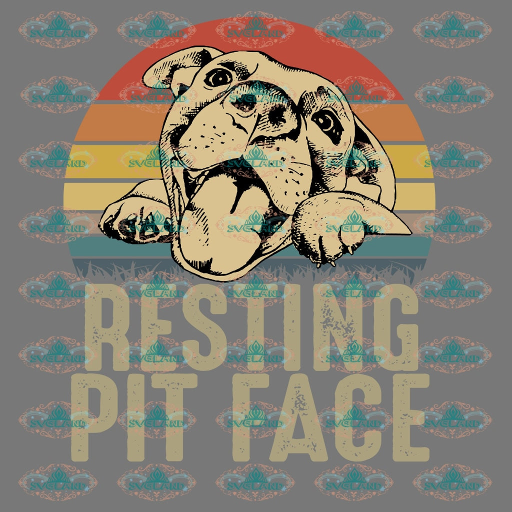 Resting Pit Face Pitbull Vintage Shirt Lover Dunny Friend Gift Png Digital