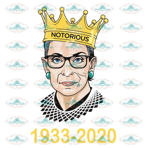 Ruth Bader Ginsburg Svg, Notorious Svg, RBG Svg, Cricut File, Clipart 5