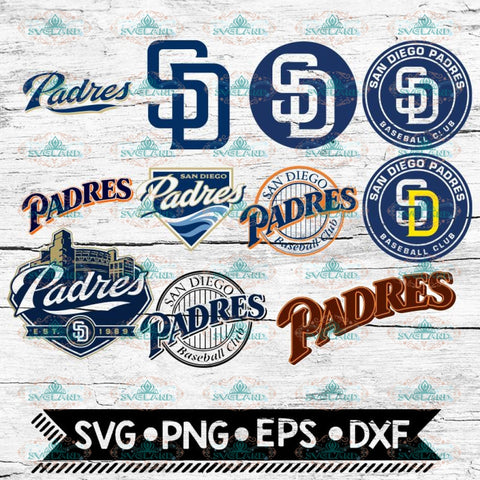San Diego Padres clipart png MLB Baseball ai svg eps dxf