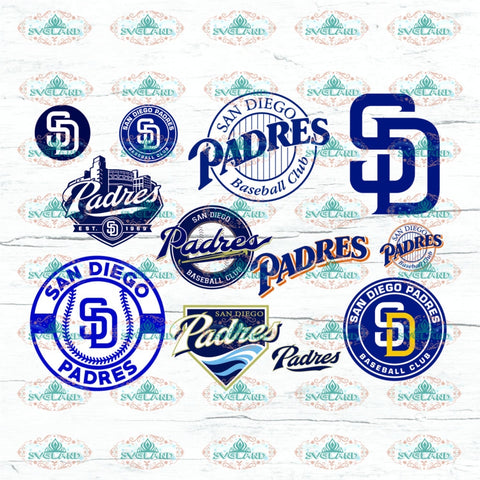 San Diego Padres Fan College Baseball Svg Mlb Digital