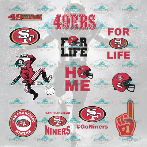 San Francisco 49Ers Svg San Francisco Shirt Vsg Sf Bundle File Nfl Ncaa Digital